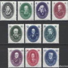 Sellos: ALEMANIA ORIENTAL,1950 YVERT Nº 15 / 24 /**/, 250 AÑOS DE LA ACADEMIA DE CIENCIAS DE BERLÍN. Lote 206288868