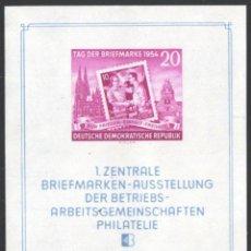 Sellos: ALEMANIA ORIENTAL, 1954 YVERT Nº HB 4 /**/, DÍA DEL SELLO. Lote 206292706