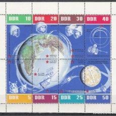 Sellos: ALEMANIA ORIENTAL, 1962 YVERT Nº HB 12 /**/, 60 ANIVERSARIO DEL VUELO ESPACIAL SOVIÉTICO. Lote 206294545