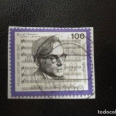 Sellos: ALEMANIA 1992. DISTLER AND MUSIC-SCORE. MI:DE 1637, (2494). Lote 206583776