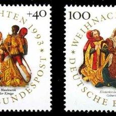 Sellos: ALEMANIA FEDERAL, 1993 YVERT Nº 1539 / 1540 /**/, NAVIDAD. Lote 206942265