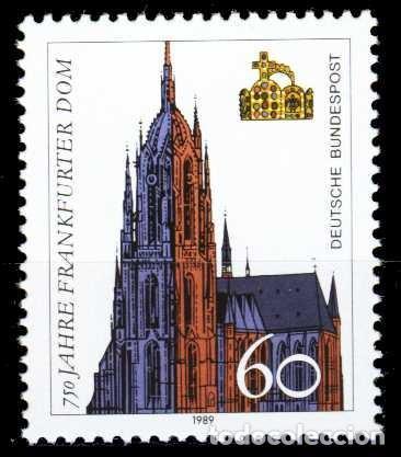 ALEMANIA FEDERAL,1989 YVERT Nº 1266 /**/, CATEDRAL DE FRANKFURT (Sellos - Extranjero - Europa - Alemania)