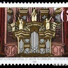 Sellos: ALEMANIA FEDERAL,1989 YVERT Nº 1273 /**/, ÓRGANO ARP-SCHNITGER, HAMBURGO. Lote 207042057