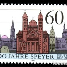 Sellos: ALEMANIA FEDERAL,1990 YVERT Nº 1276 /**/, CATEDRAL DE SPEYER. Lote 207042195