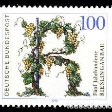 Sellos: ALEMANIA FEDERAL,1990 YVERT Nº 1278 /**/, ANIVERSARIO DEL CULTIVO DE LA UVA, RIESLING. Lote 207042268