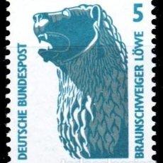 Sellos: ALEMANIA FEDERAL,1990 YVERT Nº 1280 /**/, ESTATUA DEL LEÓN, BRUNSWICK. Lote 207042321
