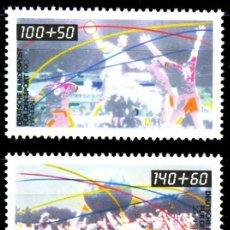 Sellos: ALEMANIA FEDERAL,1990 YVERT Nº 1281 / 1282 /**/, DEPORTES. Lote 207042336