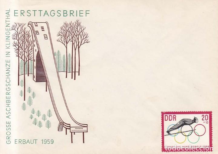 ALEMANIA DEMOCRATICA AÑO 1959 YVERT 205 SOBRE JUEGOS OLIMPICOS DE INVIERNO ERBAUT 1959 (Sellos - Extranjero - Europa - Alemania)