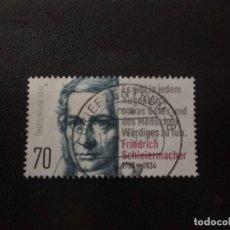 Sellos: ALEMANIA 2018. FRIEDRICH SCHLEIERMACHER 250TH ANNIVERSARY OF BIRTH. MI:DE 3419 (1463). Lote 207236105