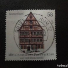 Sellos: ALEMANIA 2012. MIDDEL GERMAN HALF-TIMBERED BUILDING IN DINKELSBÜHL. MI:DE 2970,(1469). Lote 207238126
