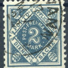 Sellos: ALEMANIA WURTTEMBERG 1906-1916 MICHEL 112 USADO MARQUILLADO - 15/61. Lote 208045933