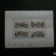 Sellos: /04.07/-BERLIN-1987-BLOQUE Y&T 8 EN NUEVO SIN FIJASELLOS(**MNH). Lote 210414050