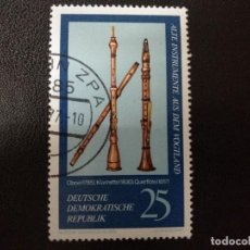 Sellos: ALEMANIA DDR 1977.WIND INSTRUMENTS. Lote 210619950