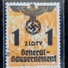 Sellos: 1940 ALEMANIA, SELLOS DE POLONIA SOBRECARGADOS GOBIERNO GENERAL, 1 / 1ZL. Lote 211440771
