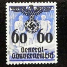 Sellos: 1940 ALEMANIA, SELLOS DE POLONIA SOBRECARGADOS GOBIERNO GENERAL, 60 / 55GR. Lote 211440889
