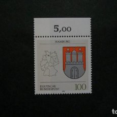 Sellos: /11.07/-ALEMANIA FEDERAL-1992- 100 PF. Y&T 1462 SERIE COMPLETA EN NUEVO SIN FIJASELLOS(**MNH). Lote 211450680