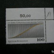 Sellos: /11.07/-ALEMANIA FEDERAL-1993- 100 PF. Y&T 1486 SERIE COMPLETA EN NUEVO SIN FIJASELLOS(**MNH). Lote 211452091