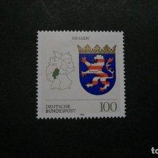 Sellos: /11.07/-ALEMANIA FEDERAL-1993- 100 PF. Y&T 1492 SERIE COMPLETA EN NUEVO SIN FIJASELLOS(**MNH). Lote 211452181