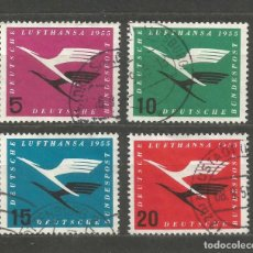Sellos: ALEMANIA FEDERAL AÑ0 1955. SERIE Nº 81/84. USADA. CATÁLOGO YVERT. Lote 211600529