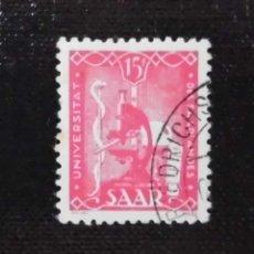 Sellos: 1949 ALEMANIA, ANIVERSARIO DE LA UNIVERSIDAD DE SARRE, 15 FR. Lote 211627354