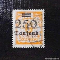 Sellos: 1923 ALEMANIA, SOBRECARGA POR LA HIPERINFLACION, DANZIG, 250/200TS/MK. Lote 211627932