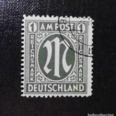 Sellos: 1945 ALEMANIA, ZONA BRITANICA AMERICANA, 1 RM. Lote 211836170