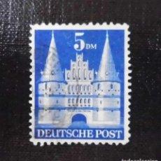 Sellos: 1948 ALEMANIA, ZONA BRITANICA AMERICANA, HOLSTENTOR, LÜBECK 1 DM. Lote 211836765