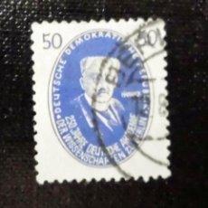 Sellos: 1950 REPUBLICA DEMOCRATICA ALEMANA, 250 ANIVERSARIO DE CIENCIAS DE BERLIN, PERSONAJES. Lote 211837376