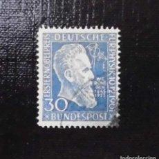 Sellos: 1951 ALEMANIA,50 ANIVERSARIO DE LA CONCESION DEL PREMIO NOBEL DE FISICA A RÖNGTEN. Lote 211837820