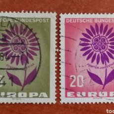 Sellos: ALEMANIA, EUROPA CEPT 1964 USADA (FOTOGRAFÍA REAL). Lote 212405693