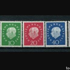 Sellos: COLECCIÓN ALEMANIA - 1959 - THEODORE HAYES [MI.302-306] - SERIE COMPLETA - 5 SELLOS.CONDICIÓN: MNH. Lote 212632753