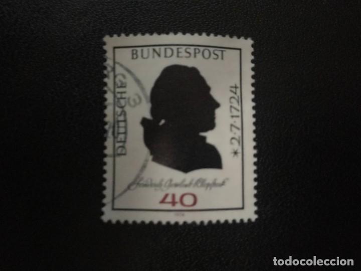 ALEMANIA 1974. 250TH BIRTH ANNIV. OF FRIEDRICH GOTTLIEB KLOPSTOCK. YT:DE 660, (710) (Sellos - Extranjero - Europa - Alemania)