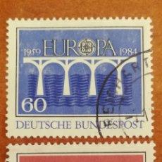 Sellos: ALEMANIA, EUROPA CEPT 1984 USADA (FOTOGRAFÍA REAL). Lote 213693750