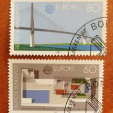 Sellos: ALEMANIA, EUROPA CEPT 1987 USADA (FOTOGRAFÍA REAL). Lote 213712306