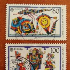 Sellos: ALEMANIA, EUROPA CEPT 1989 USADA (FOTOGRAFÍA REAL). Lote 213722972