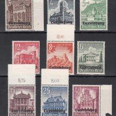 Sellos: OCUPACIÓN ALEMANA, LUXEMBURGO, 1940 YVERT Nº 33 / 41 /**/, SIN FIJASELLOS,. Lote 213816068
