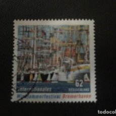 Timbres: ALEMANIA 2015. INTERNATIONAL TALL SHIPS FESTIVAL, BREMERHAVEN. YT:DE 2979. Lote 214007875