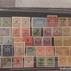 Sellos: LOTE 40 SELLOS INFLACION ALEMANIA ANTIGUOS NUEVOS 1921-24. Lote 214887420