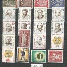 Sellos: SELLOS ALEMANIA - BERLÍN AÑO 1957 COMPLETO NUEVO. CATÁLOGO YVERT. Lote 269166978