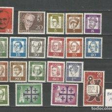 Sellos: SELLOS ALEMANIA - BERLÍN AÑO 1961 COMPLETO NUEVO. CATÁLOGO YVERT. Lote 269167053