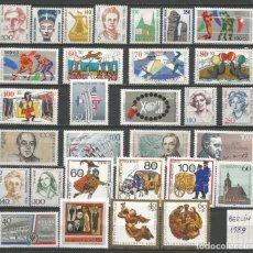 Sellos: SELLOS ALEMANIA - BERLÍN AÑO 1989 COMPLETO NUEVO. CATÁLOGO YVERT. Lote 273766008