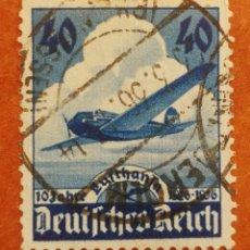 Sellos: ALEMANIA, N°54 USADO, 10°ANIVERSARIO DE LAS AEROLINEAS LUFTHANSA 1936 (FOTOGRAFÍA REAL). Lote 217691856