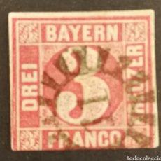 Sellos: ALEMANIA (BAVIERA) 1861 USADO (FOTOGRAFÍA REAL). Lote 217701850