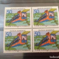 Sellos: ALEMANIA 1976 50 PF BLOQUE BRD MINR 881. Lote 217900563