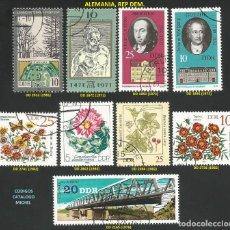 Sellos: ALEMANIA, R. D. 1971 A 1983 - LOTE VARIADO (VER IMAGEN) - 9 SELLOS USADOS. Lote 217991421