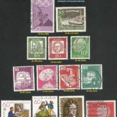 Sellos: ALEMANIA, R. F. 1954 A 1981 - LOTE VARIADO (VER IMAGEN) - 13 SELLOS USADOS. Lote 217992085