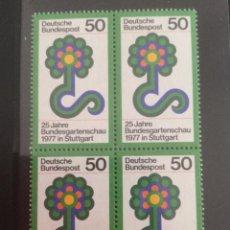 Sellos: ALEMANIA 1977 50 PF BLOQUE ECKRAND LINKS UNTEN 927. Lote 218019650
