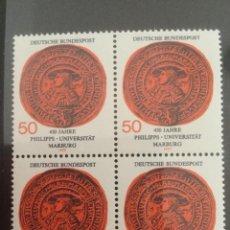 Sellos: ALEMANIA 1977 50 PF BLOQUE UNIVERSIDAD MARBURG 939. Lote 218021916