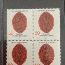 Sellos: ALEMANIA 1977 50 PF BLOQUE UNIVERSIDAD MAINZ 938. Lote 218022192