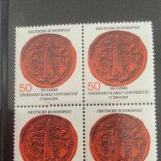 Sellos: ALEMANIA 1977 50 PF BLOQUE UNIVERSIDAD TUBINGEN. Lote 218022555